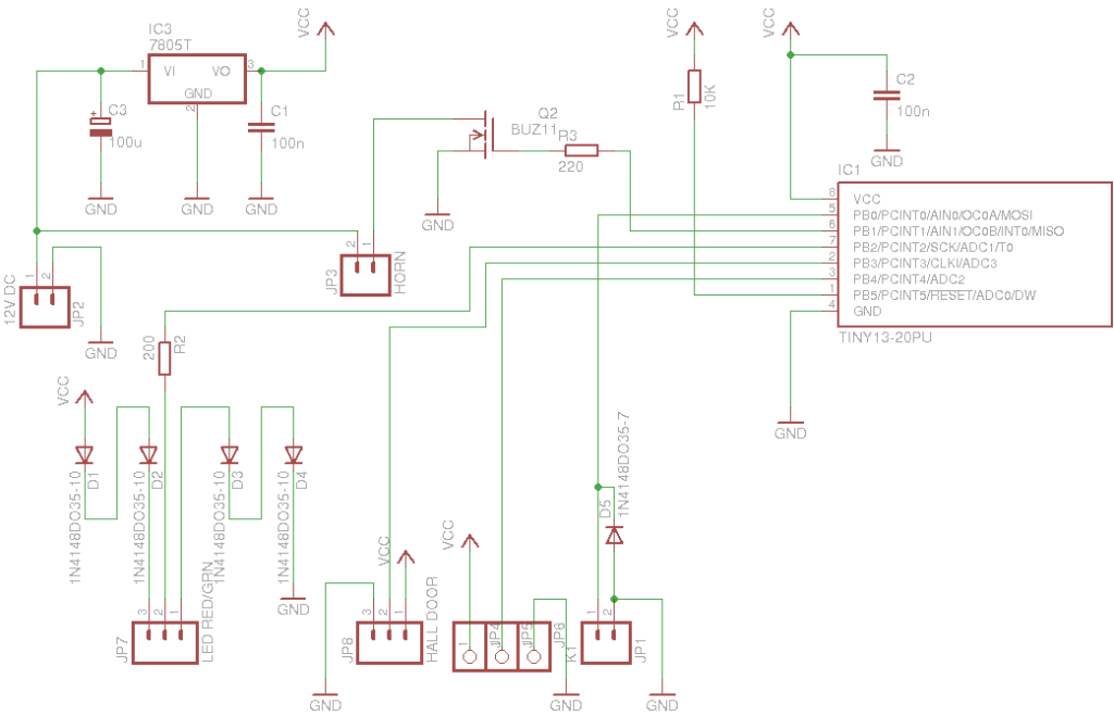schematic of the controller board